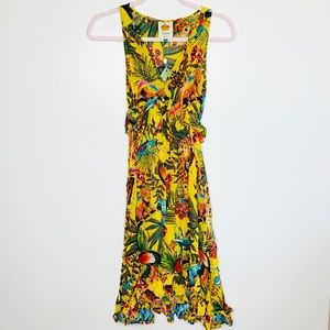 Farm Rio Dresses - NWT Farm Rio Into The Wild Midi Dress Size XS